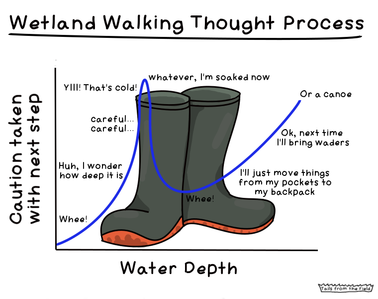 * does not apply to leaky boots - then just splash in, you know you're getting wet