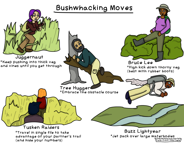 42. Bushwhacking moves